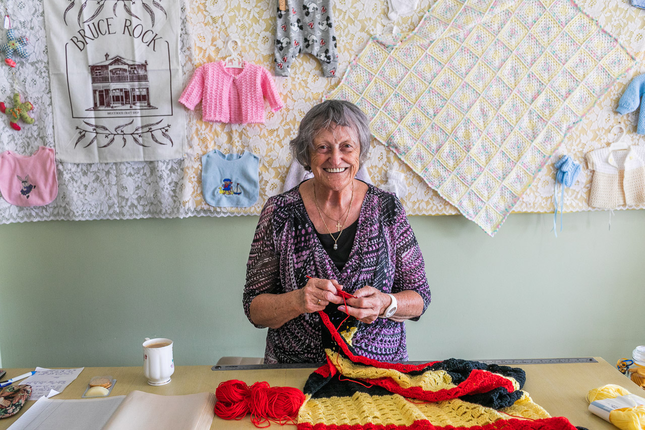 The community craft shop in Bruce Rock runs as a cooperative