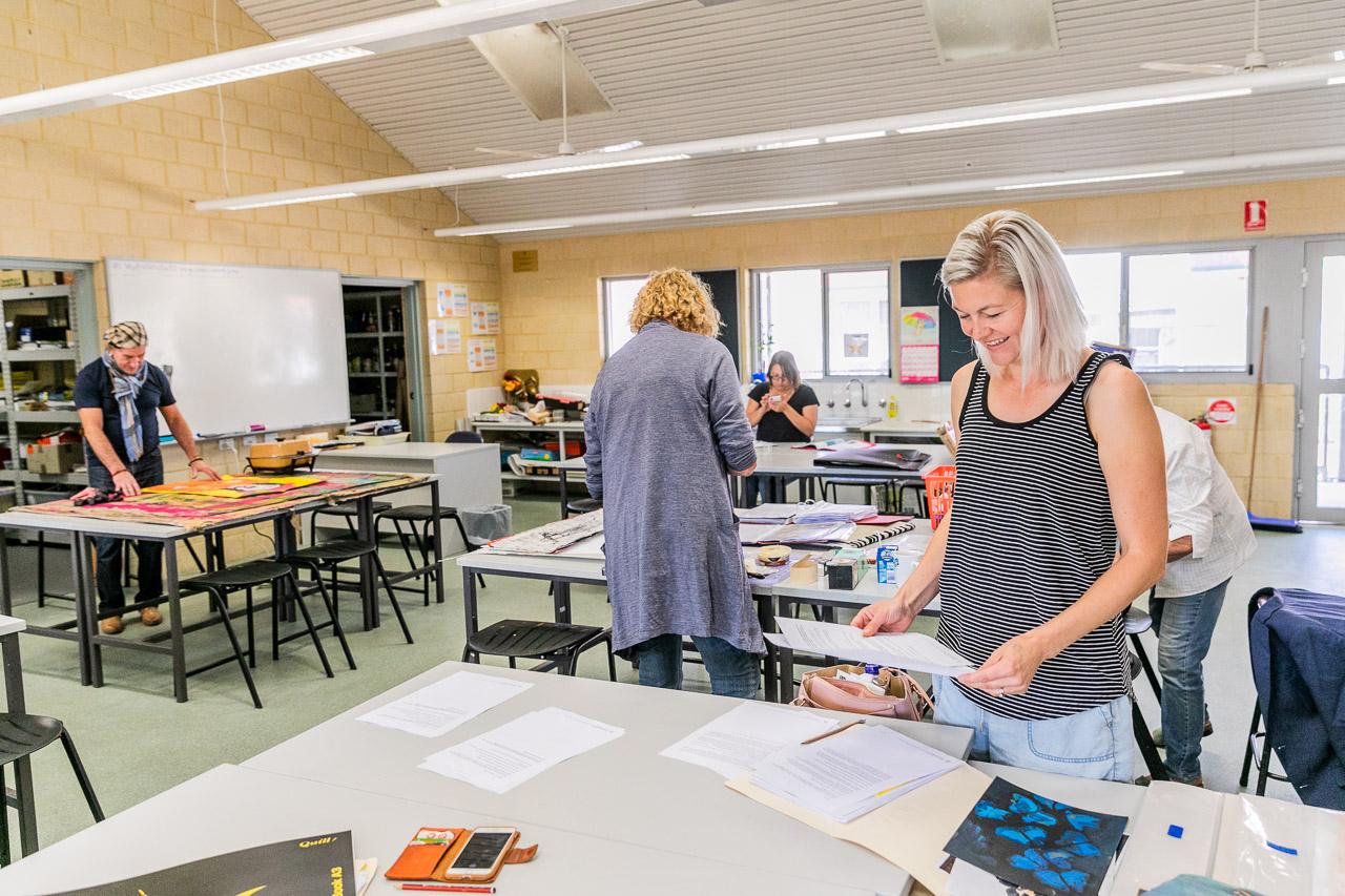 Art class at the Bruce Rock TAFE
