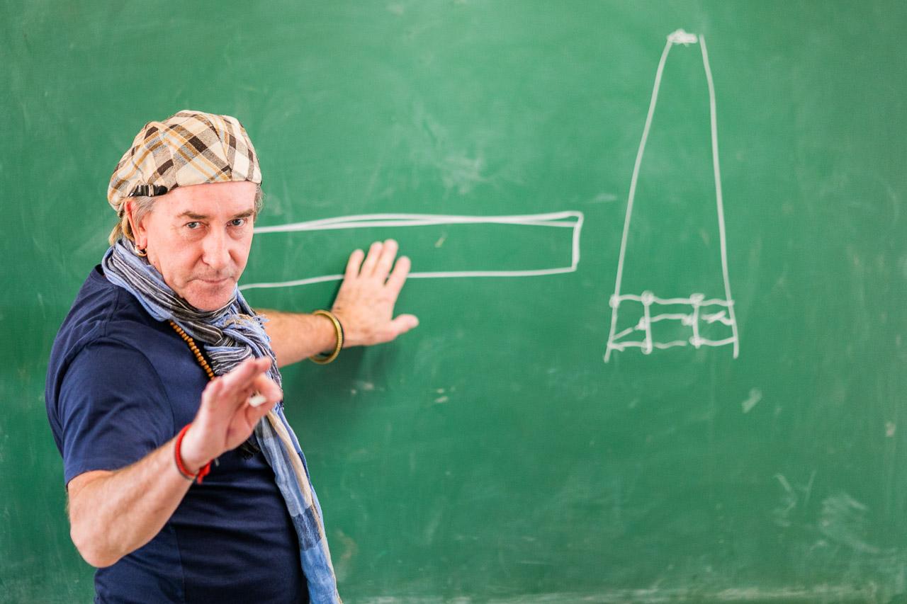 Artist Robert McCaffrey teaching at the Bruce Rock TAFE