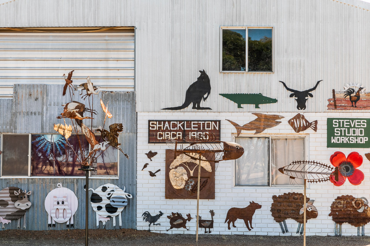 Quirky art in Shackleton, WA