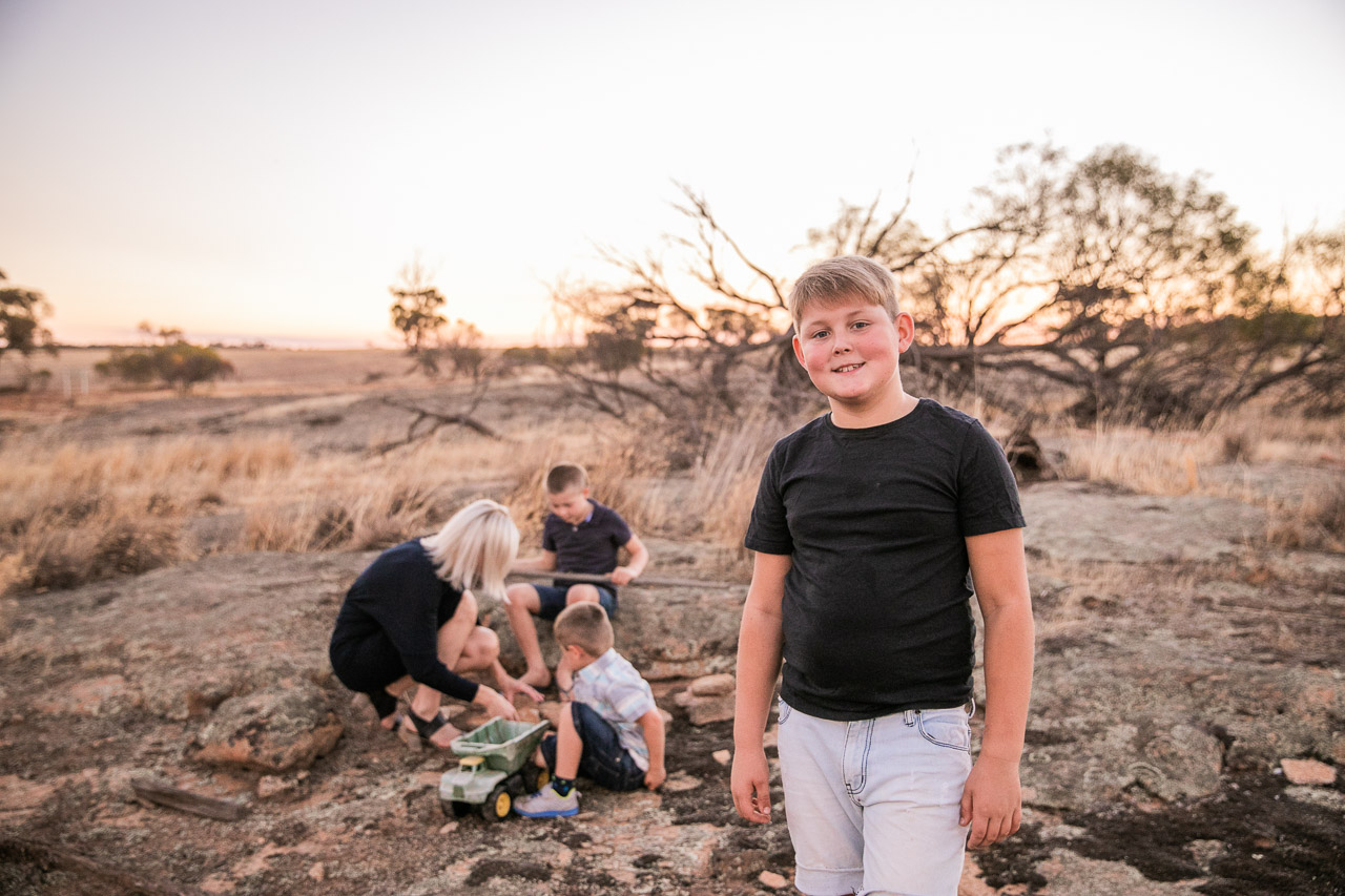 Capturing real moments,  family portraits in regional, rural and remote Western Australia