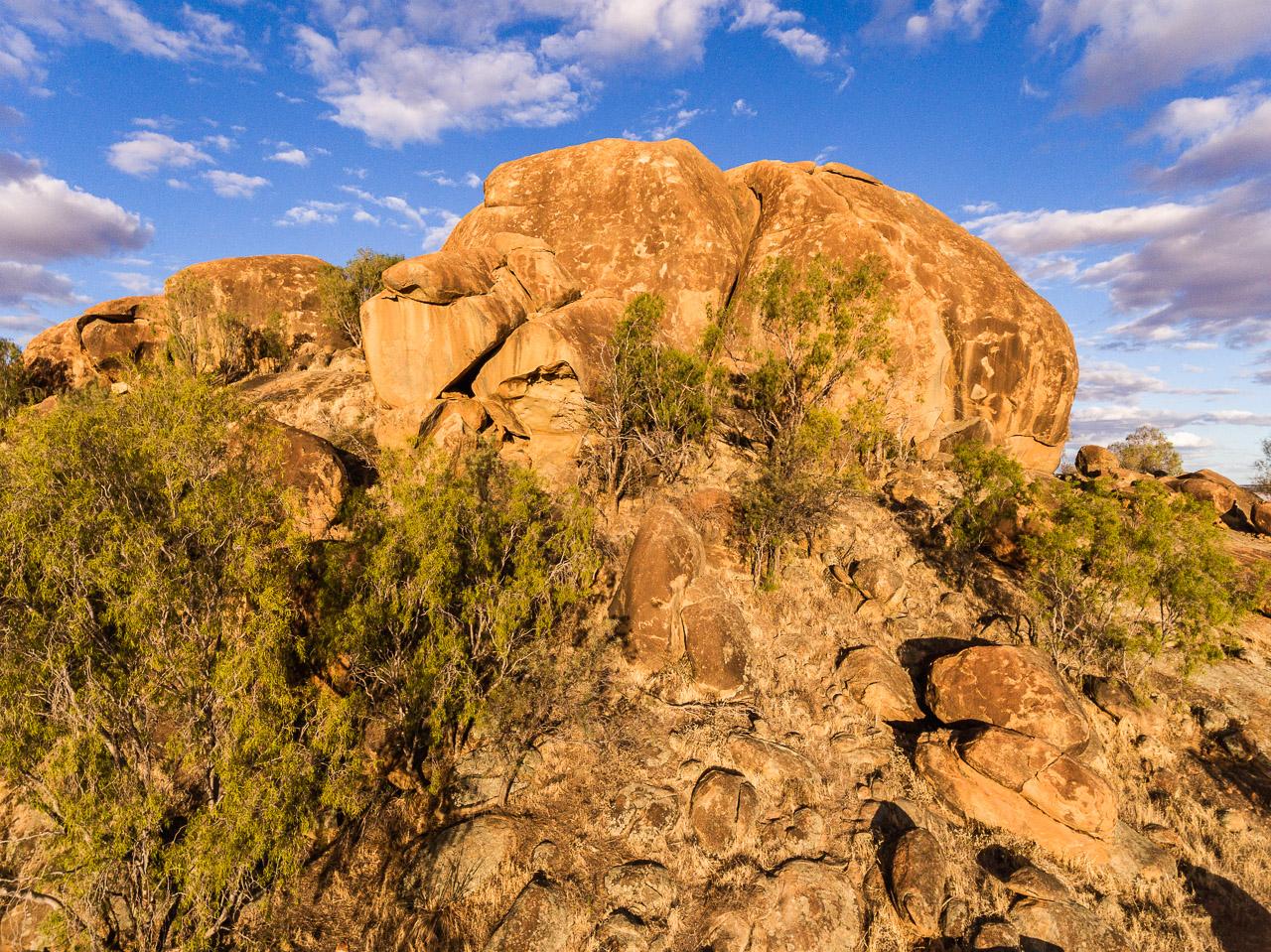 Eaglestone Rock, near Mukinbudin, at sunset