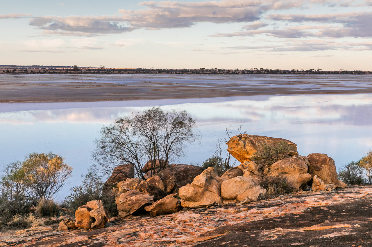 Lake Brown in the Wheatbelt is a salt lake for much of the year