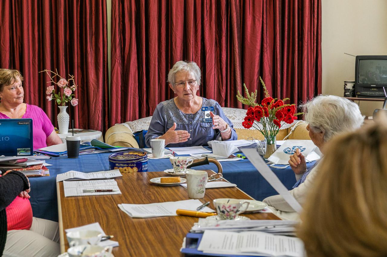 CWA president runs the meeting at the Koorda branch marks its 88th birthday