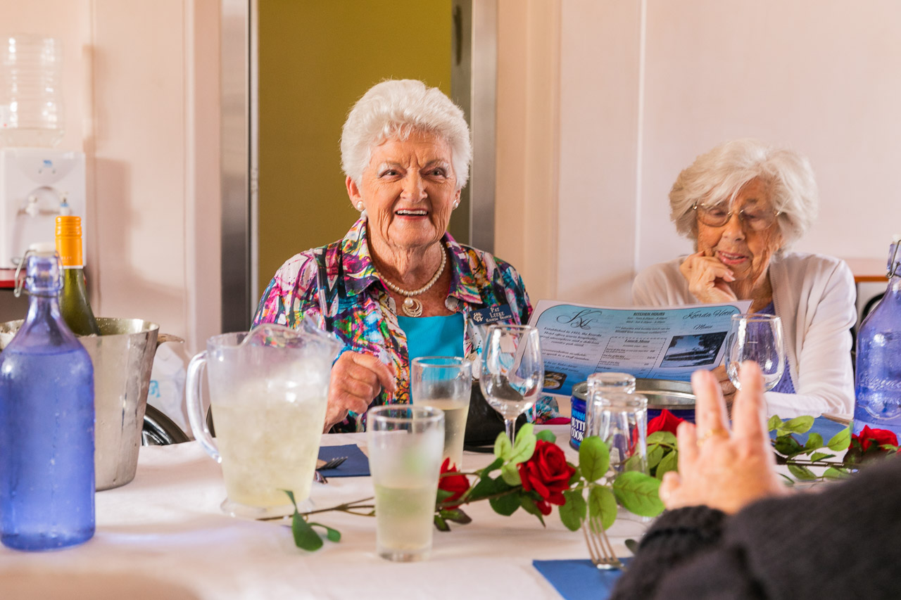 CWA ladies enjoying the Koorda branch's 88th birthday lunch