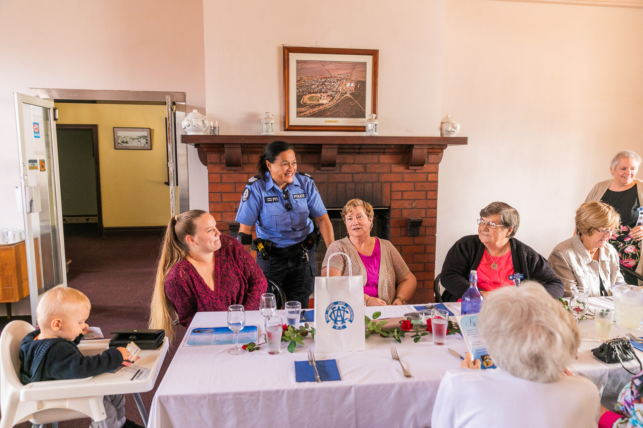 Koorda's new police sergeant Lily Unasa joins the CWA ladies for lunch