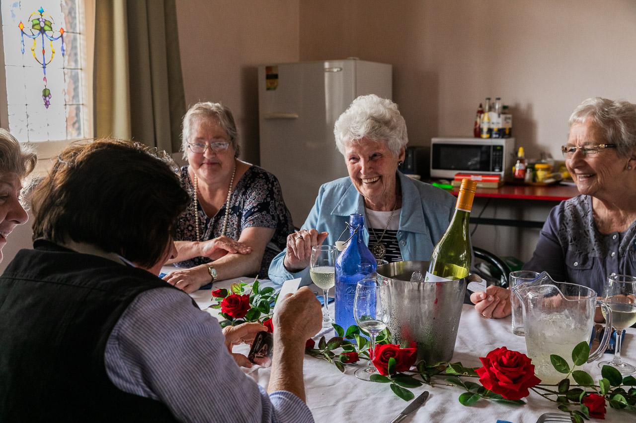 The CWA ladies enjoying their birthday lunch at the Koorda Hotel