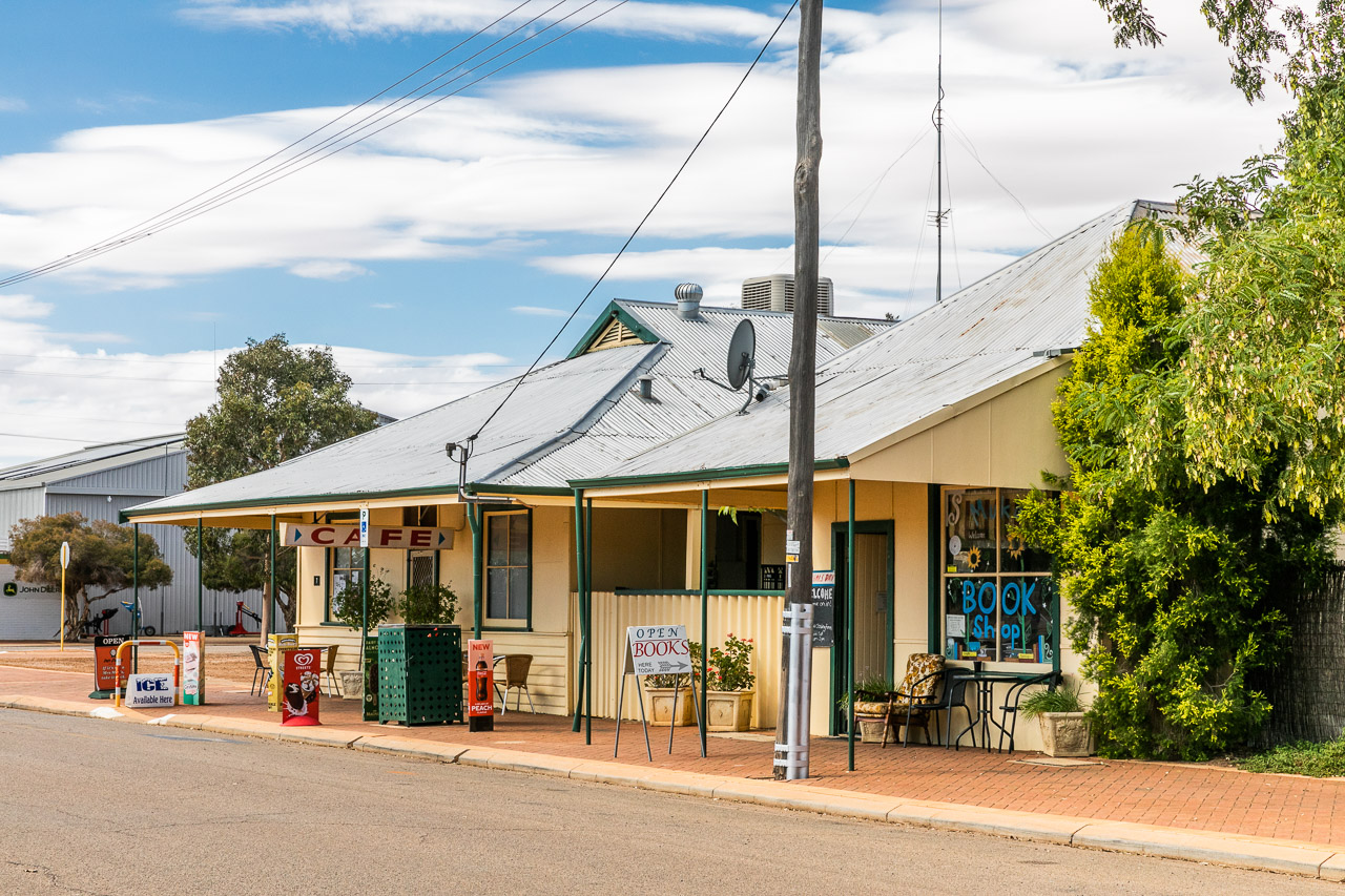 The cafe and the book shop in Mukinbudin, WA