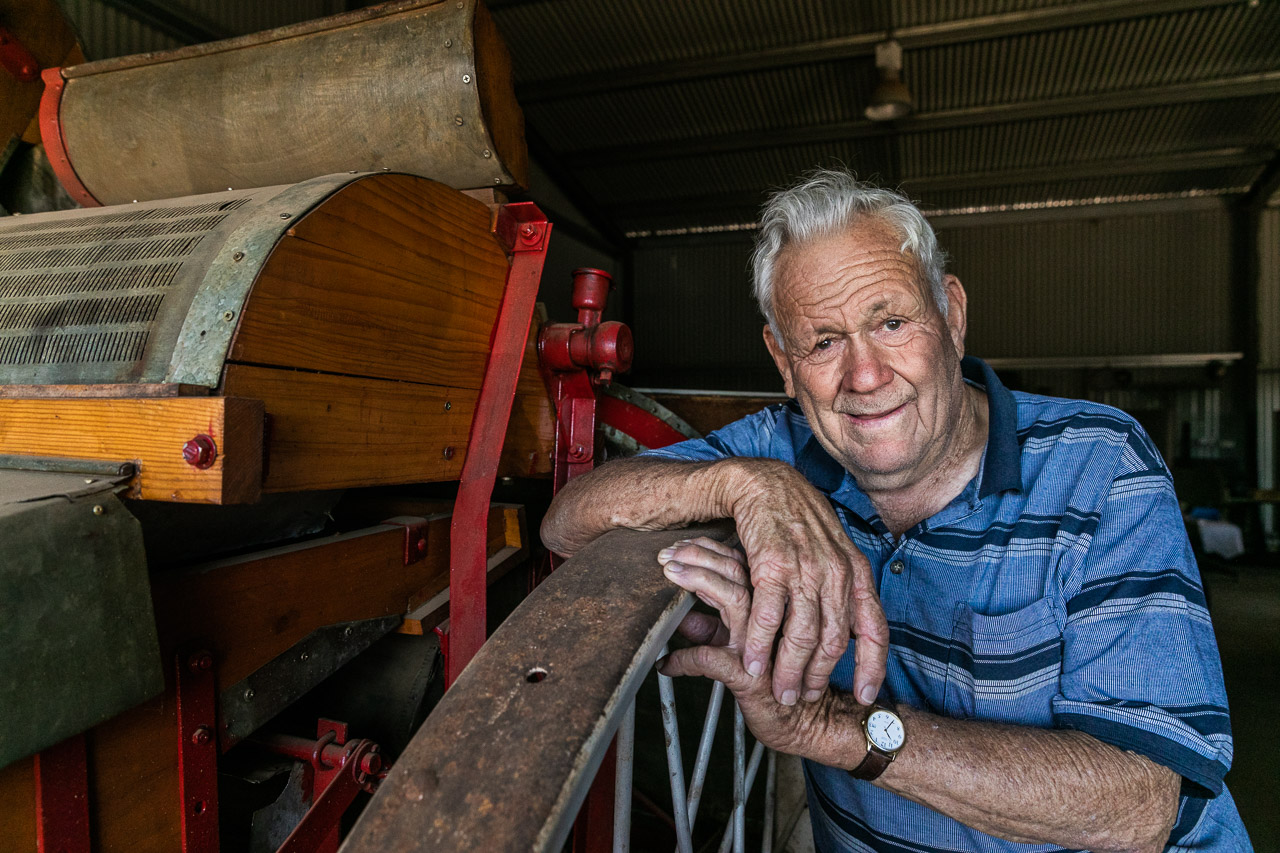 Bill Crook at the Community Shed in Mukinbudin