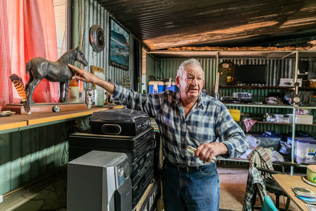 The Man Cave with Mick's collection of memorabilia and other treasures