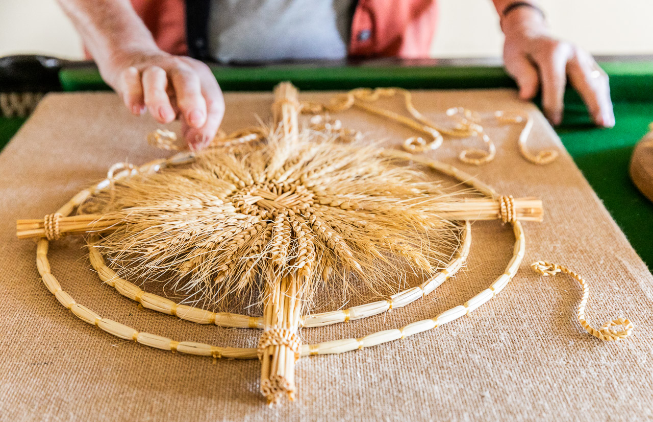 Corn dolly art in the Wheatbelt