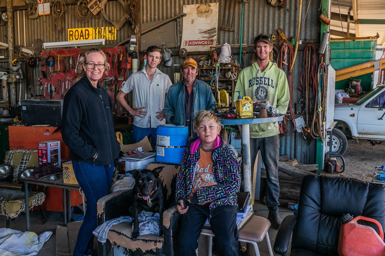 Family portraits on the farm
