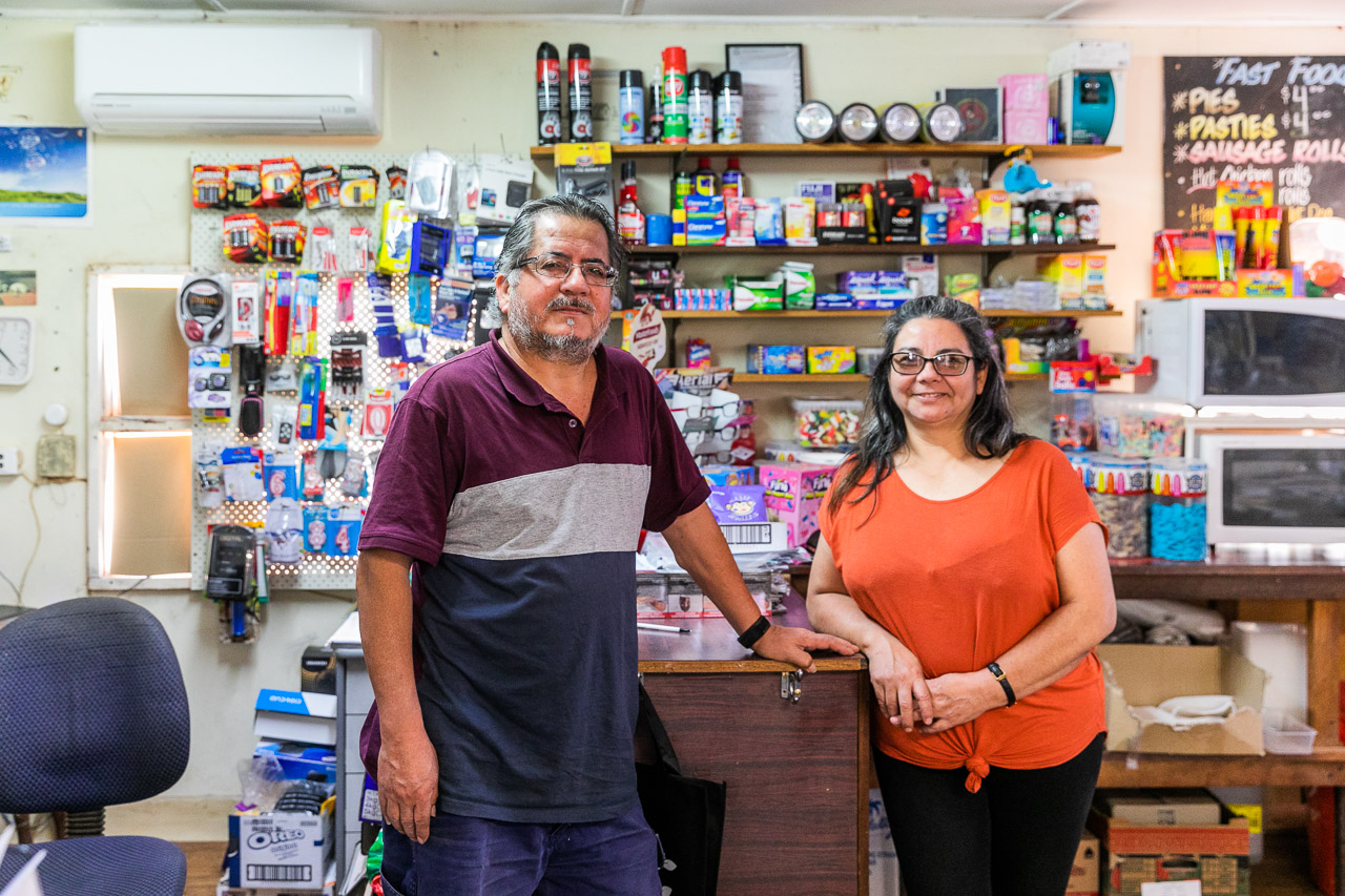 The owners of the tiny grocery store in Yalgoo, WA