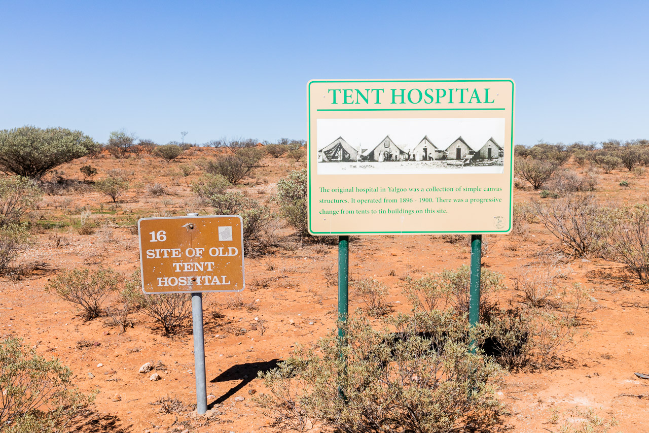 Interpretive signage around the town of Yalgoo, WA