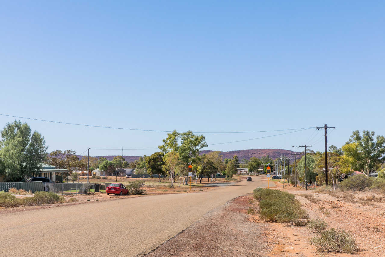 The now-empty streets in Yalgoo, Western Australia