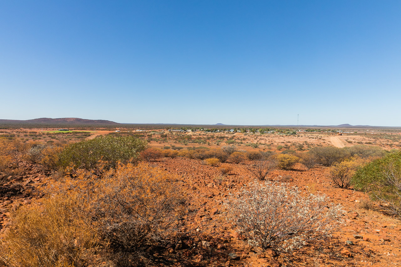 The view from the look-out over Yalgoo, WA
