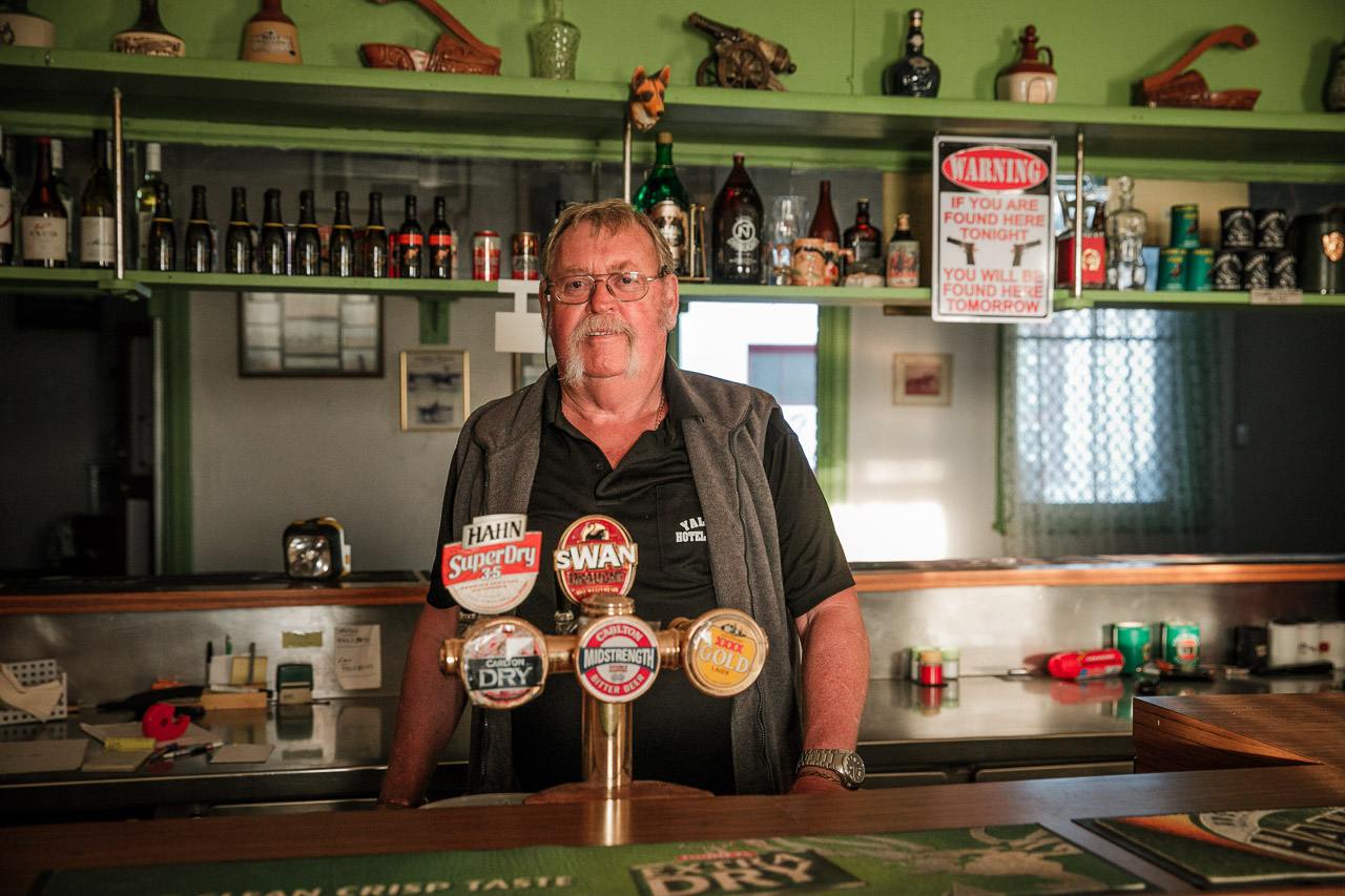 Stan at the Yalgoo Hotel in outback Western Australia