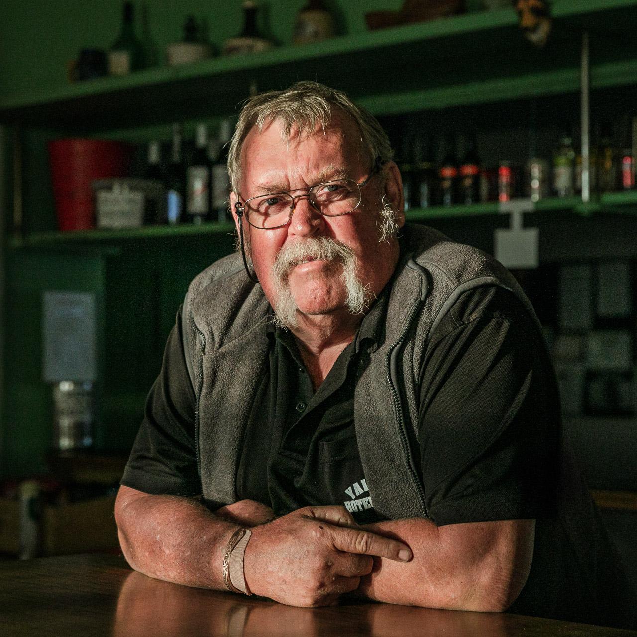 Portrait of a publican in outback Australia