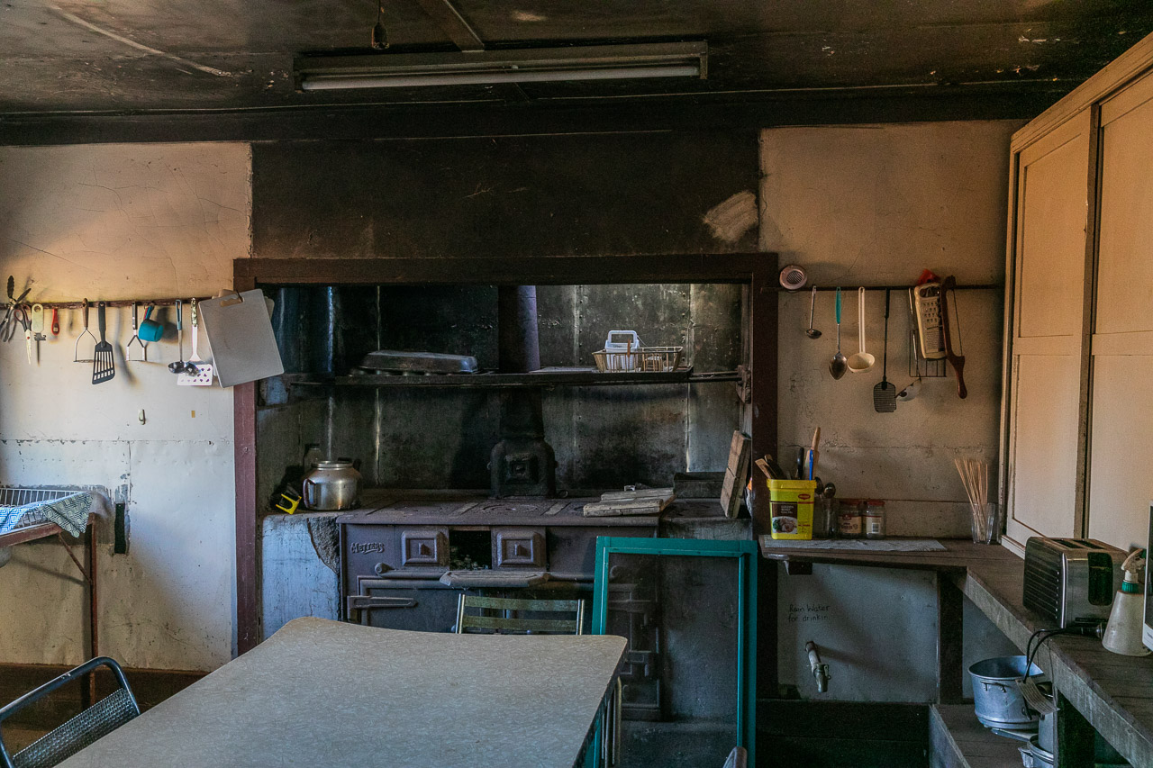 Kitchen at the Yuin Station shearers quarters