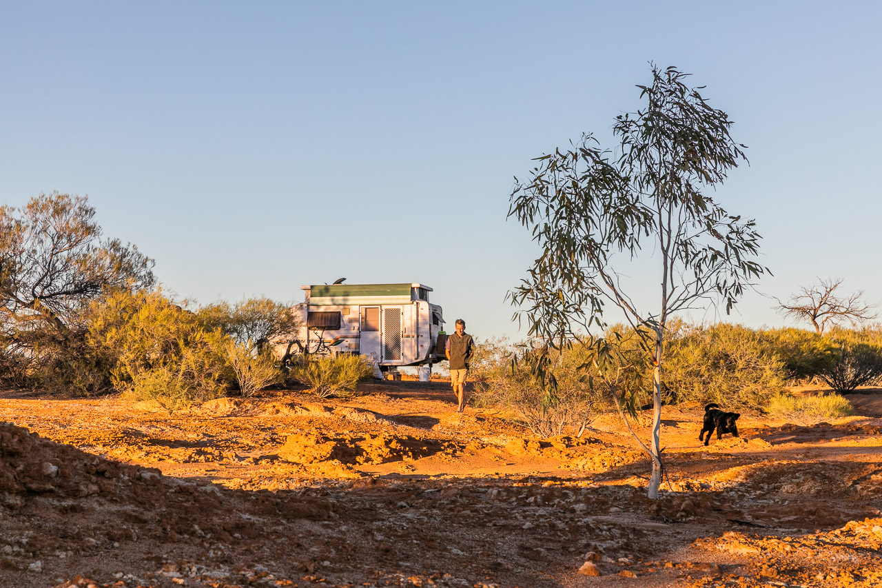 Riverside camping at Wooleen Station, Western Australia