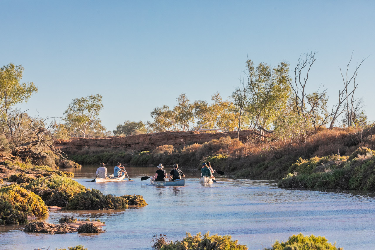 Kayaking on the Murchison River at Wooleen Station, WA