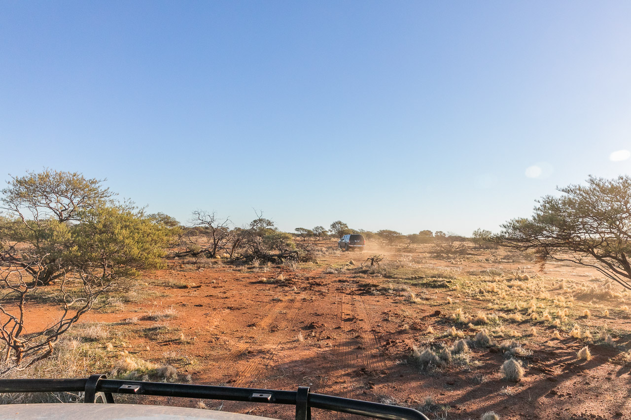 Off road four wheel driving in the outback