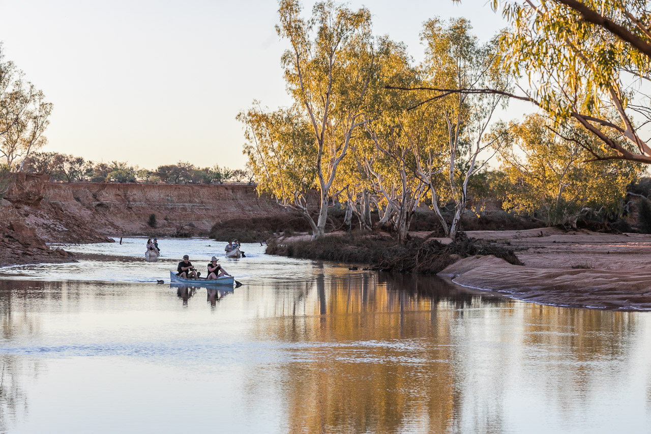 Canoeing on the Murchison River