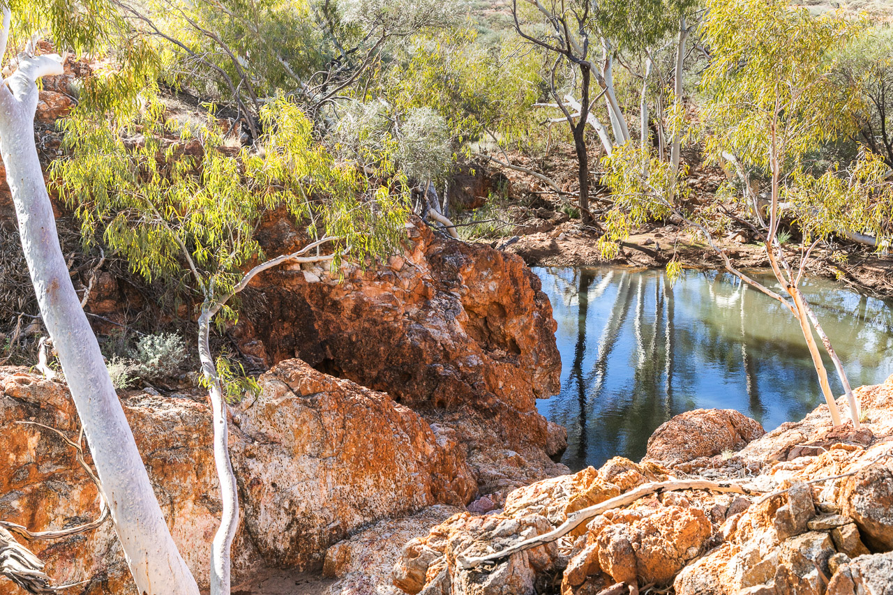 A good 4wd track leads to Nunnery Pool at Carey Downs