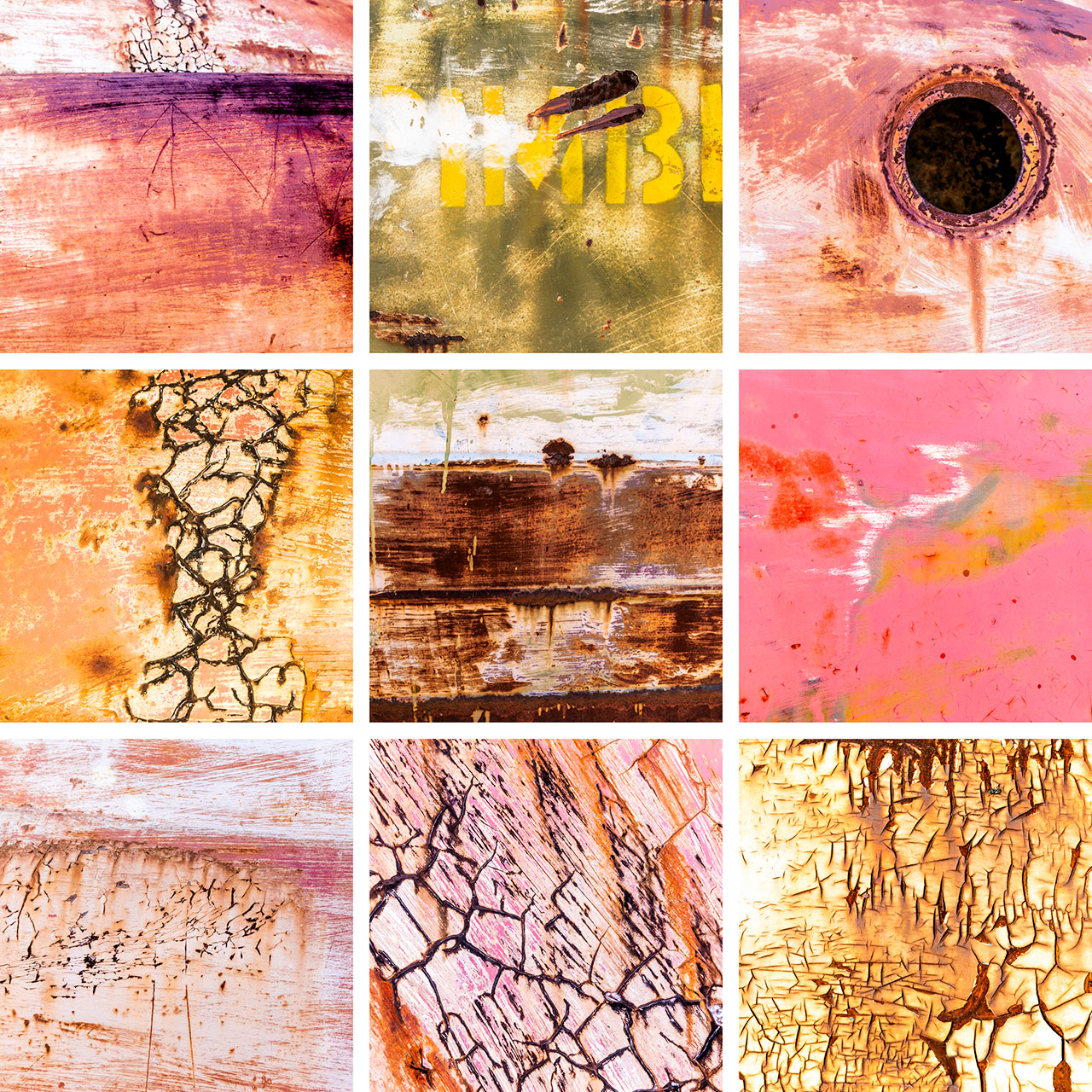 Textures and patterns in metal and paint in the outback