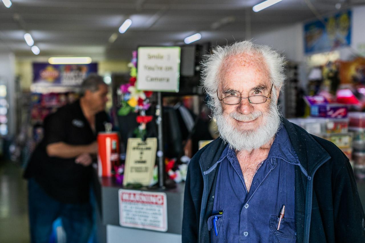Dr Harry Sneddon now runs the general store on Hubble Street in Carnarvon