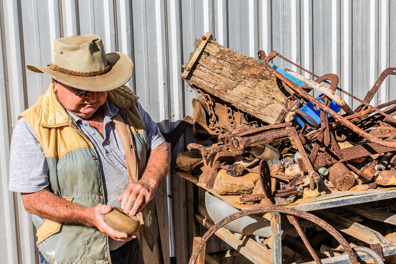 Collection of objects found in the outback of Western Australia