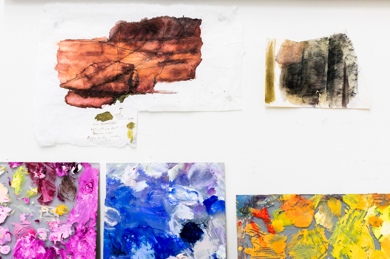 Artist Sue Helmot's colour palettes from past artworks