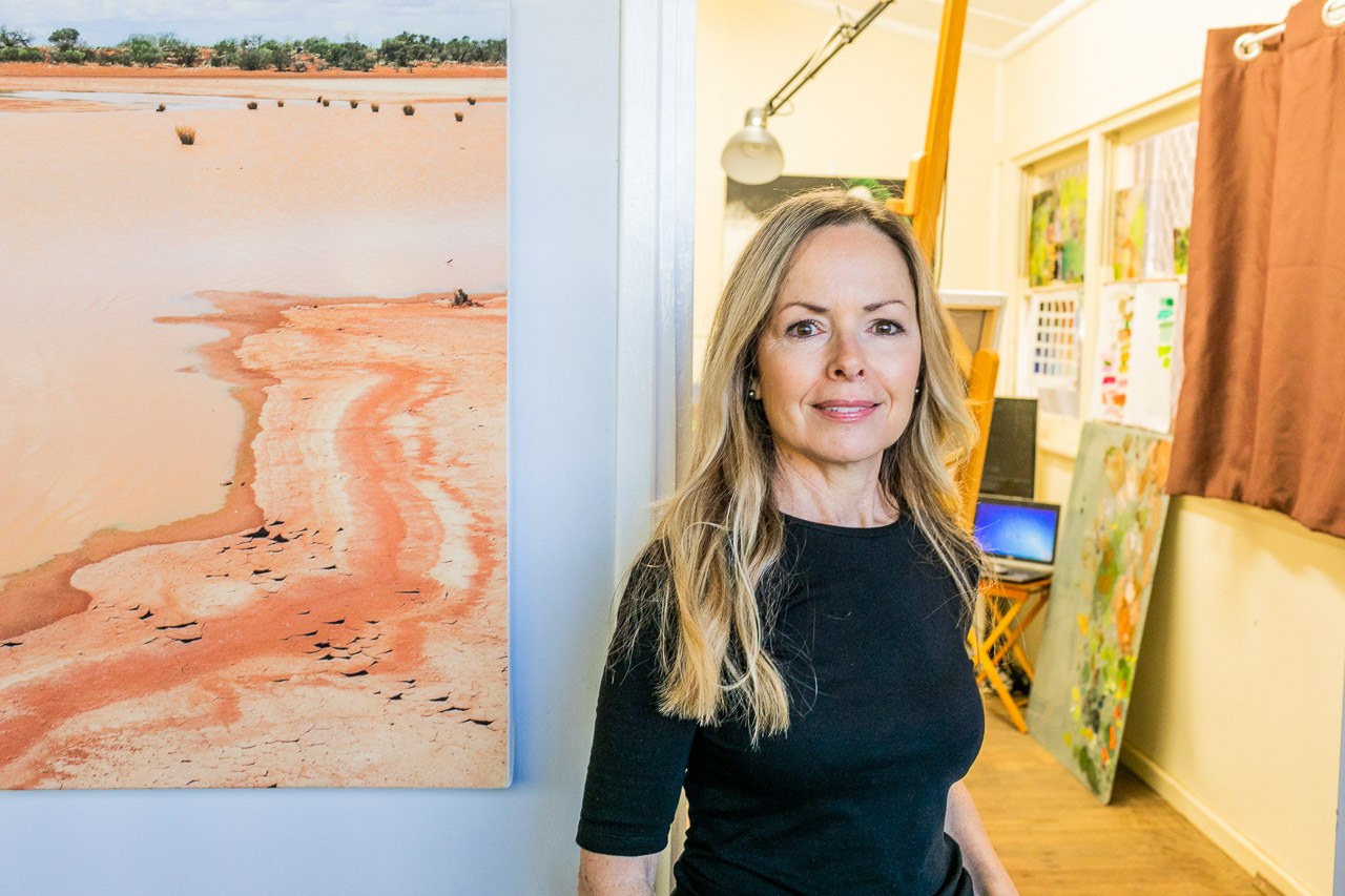 Carnarvon-based artist Sue Helmot at her studio