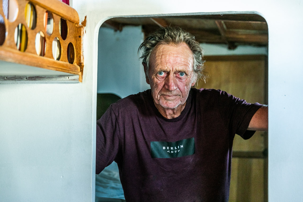 For last few months Ray Smith has spent most days out on the dredger in Carnarvon