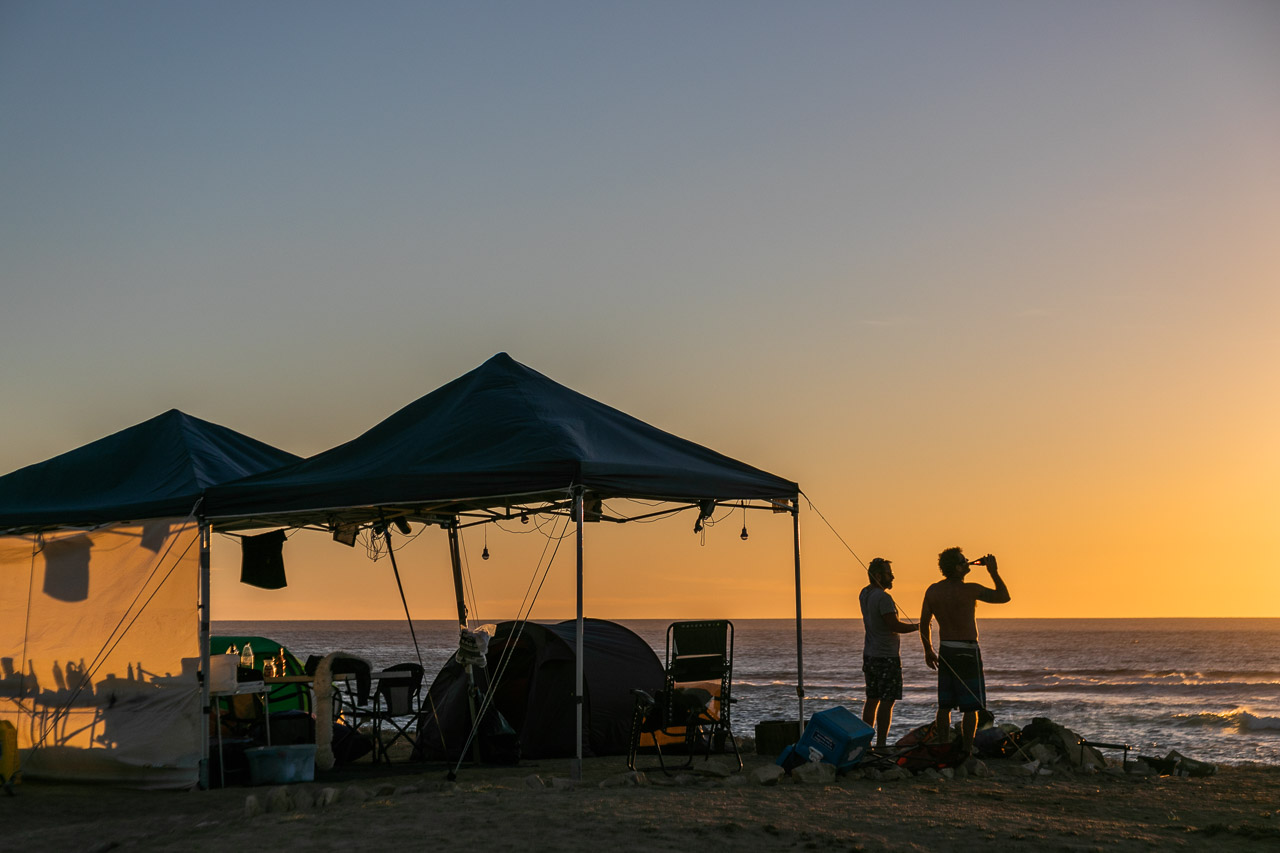 A beer at sunset after a great day surfing and fishing - that's what Gnaraloo is all about