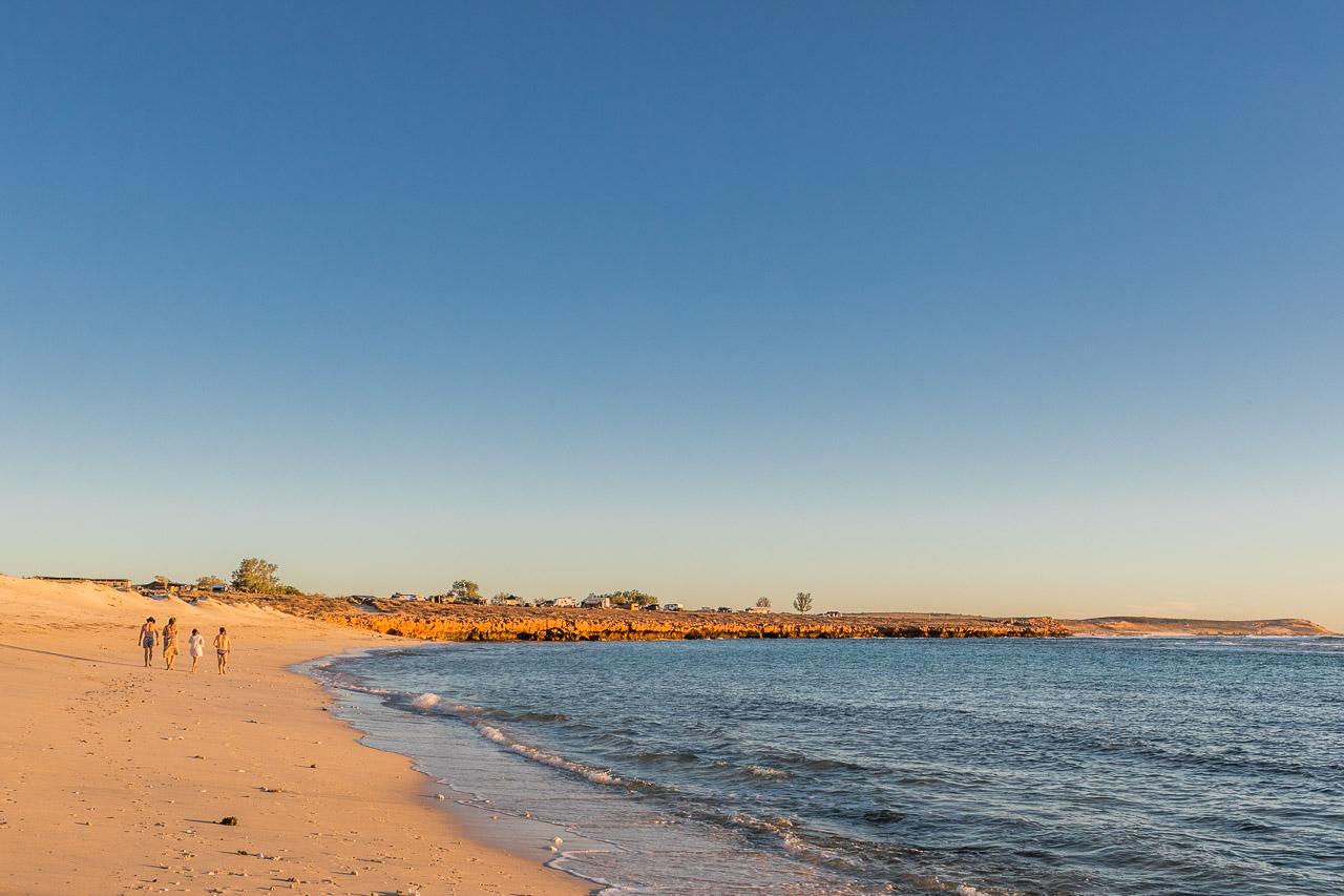Sunset beach walks at Gnaraloo Station near Carnarvon