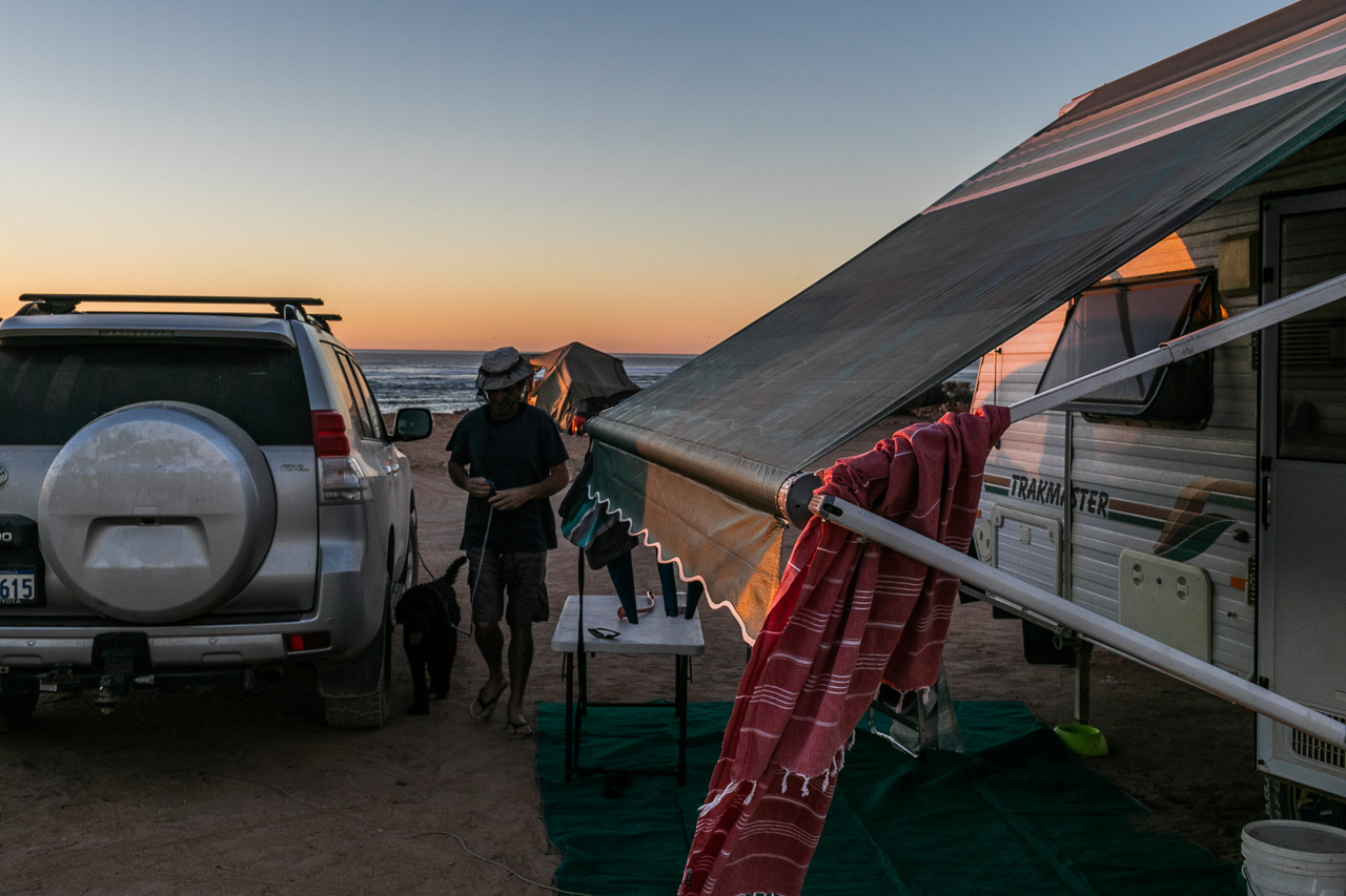 Off road camping adventures at 3 mile camp, Gnaraloo Station in WA