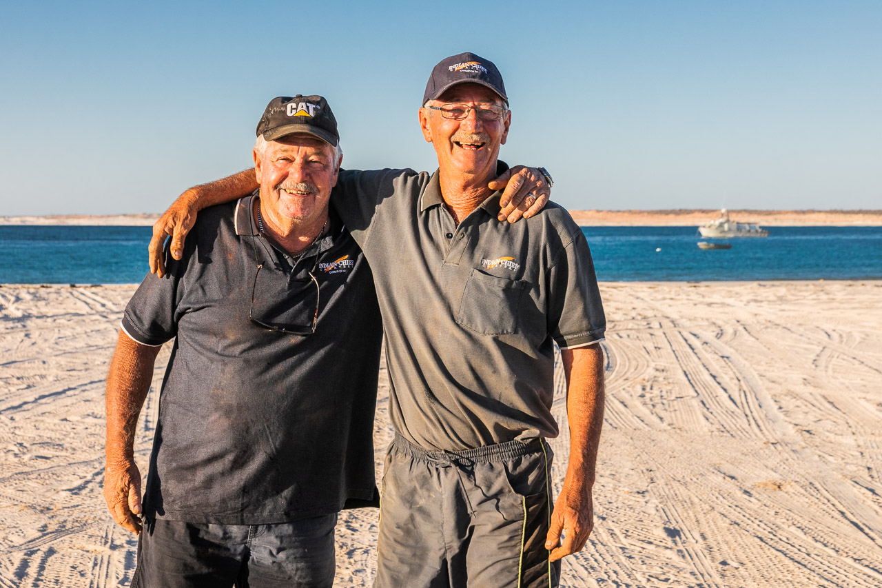 Brett and Chris of Indian Chief Fishing Charters at Gnaraloo Station