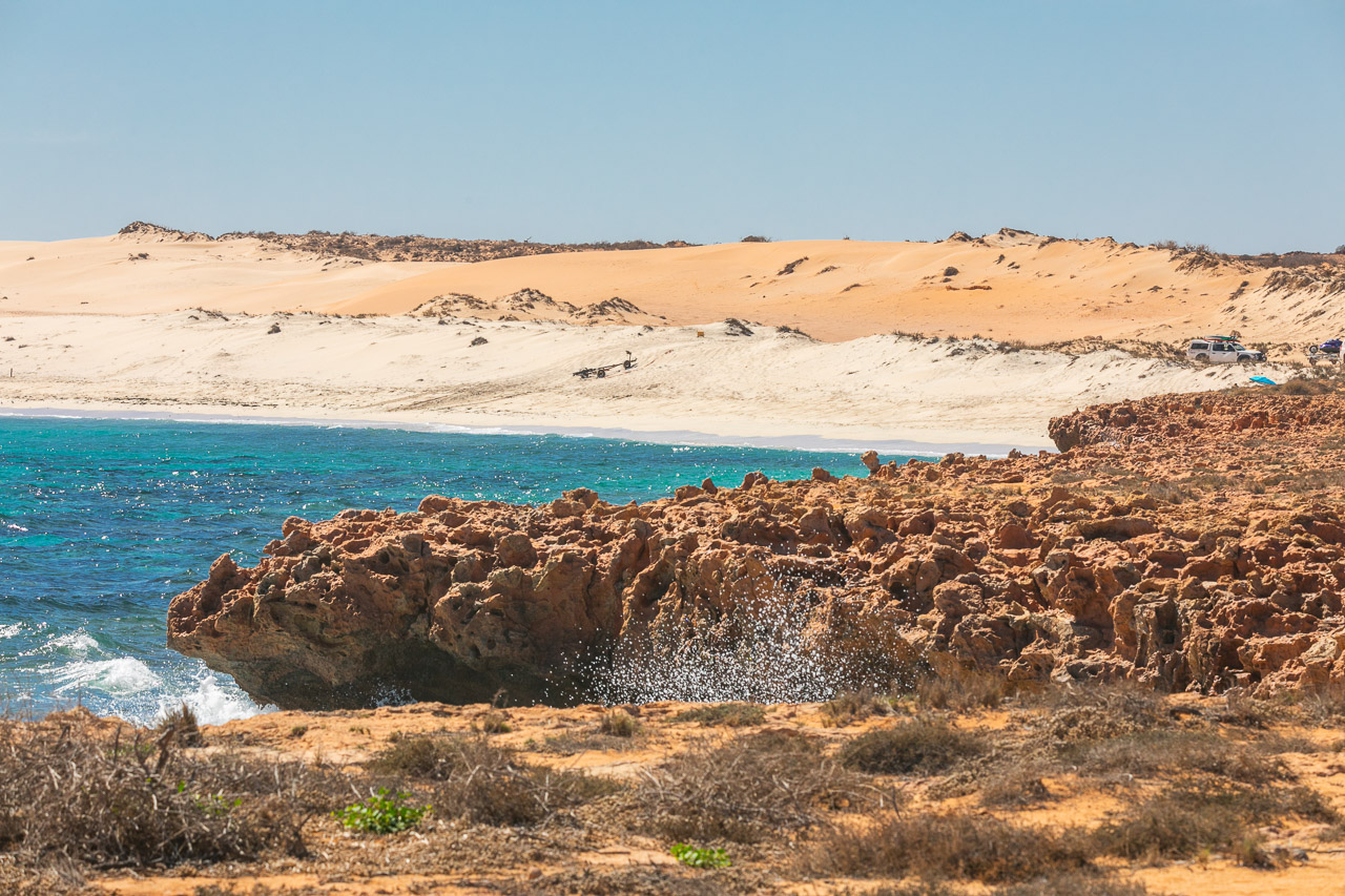 The lagoon and granite rocks next to the 3 mile camp at Gnaraloo Station, WA