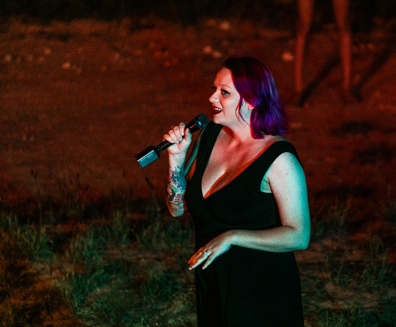 Australian opera singer Aria Scarlett at the Gascoyne in May rehearsals at Warroora Station, WA