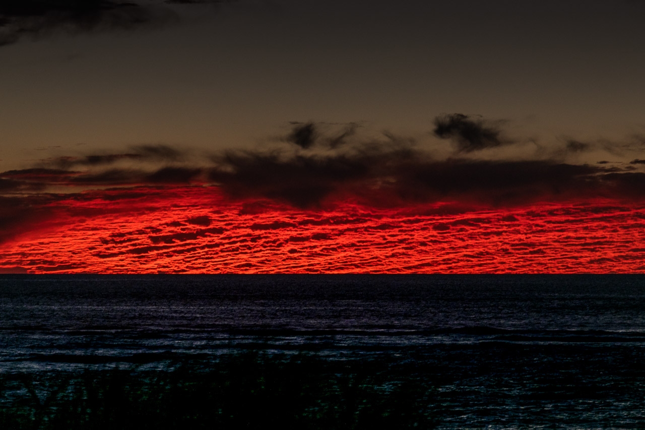 Rich red sunset on the west coast of Australia