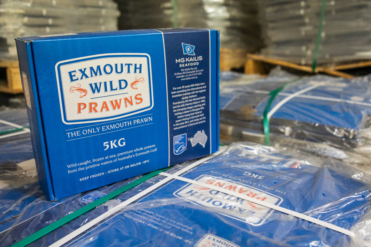 Exmouth Prawns packaging