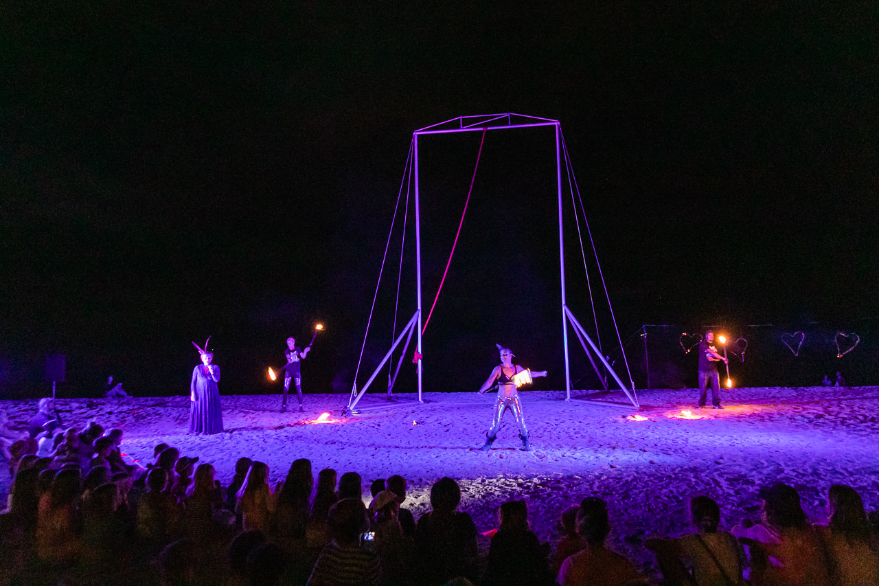 A fiery act by Gascoyne in May at the Ningaloo Whale Shark Festival