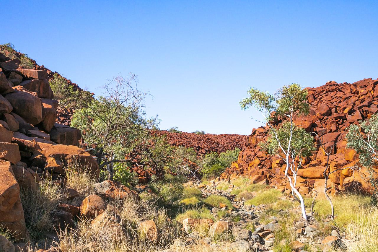 The breathtaking Deep Gorge on the Burrup Peninsula near Dampier in Western Australia