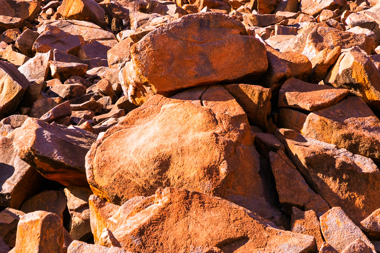 Aboriginal carvings (petroglyphs) at Deep Gorge on the Burrup Peninsula