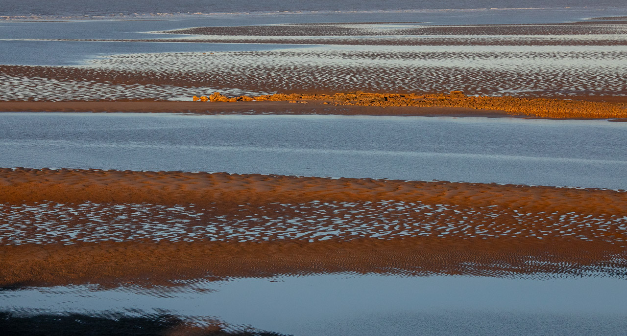 Sand patterns at low tide in Cossack WA