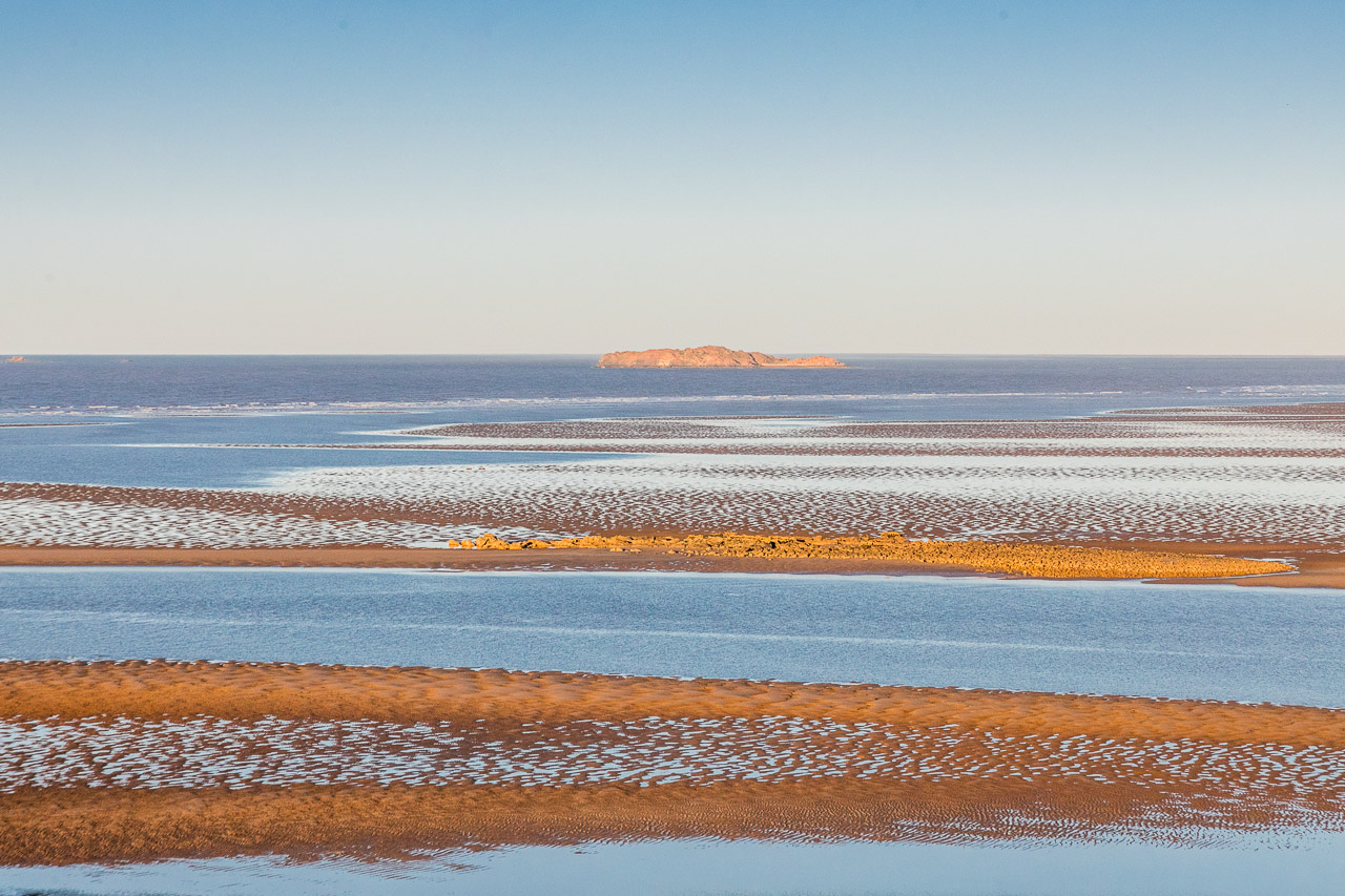 The outgoing tide at Cossack in Western Australia's Pilbara region