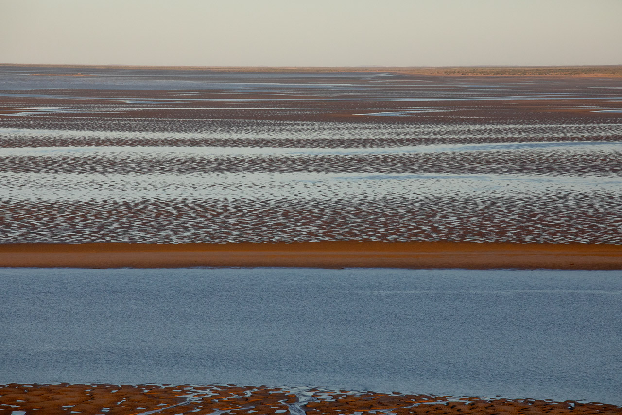 Patterns, shapes and textures at low tide in Cossack in Western Australia