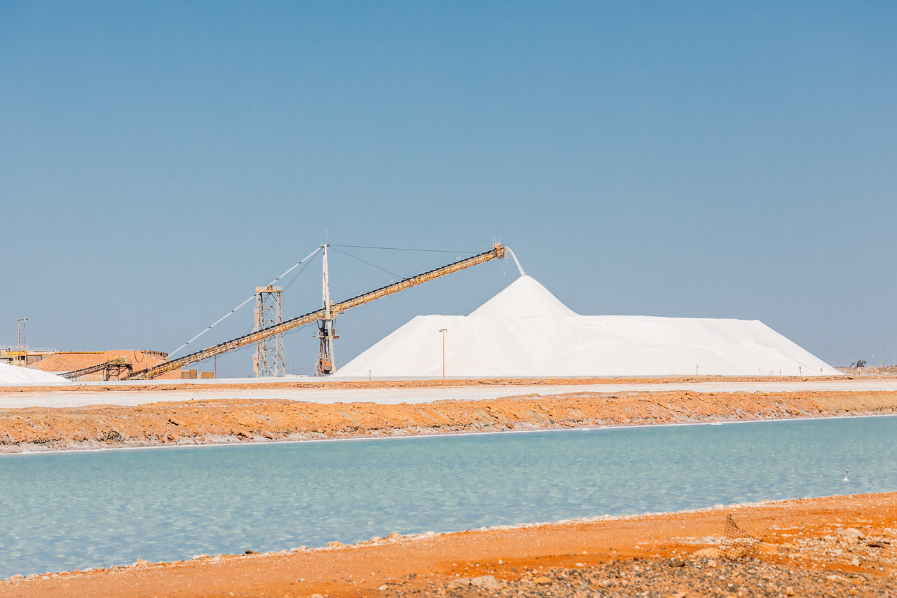 Stock pile of salt in Port Hedland