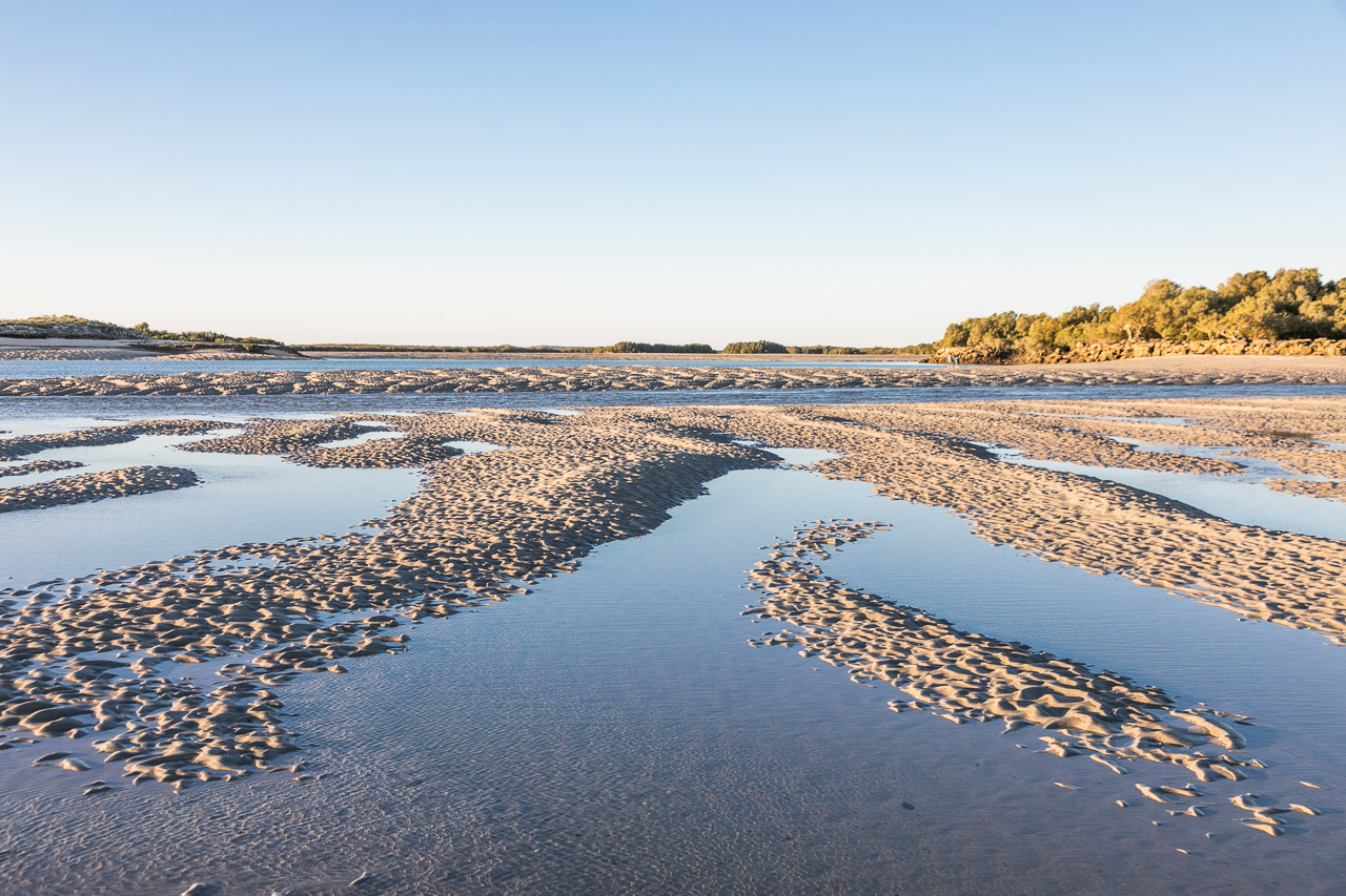 Sand patterns at low tide at Port Smith lagoon in the Pilbara